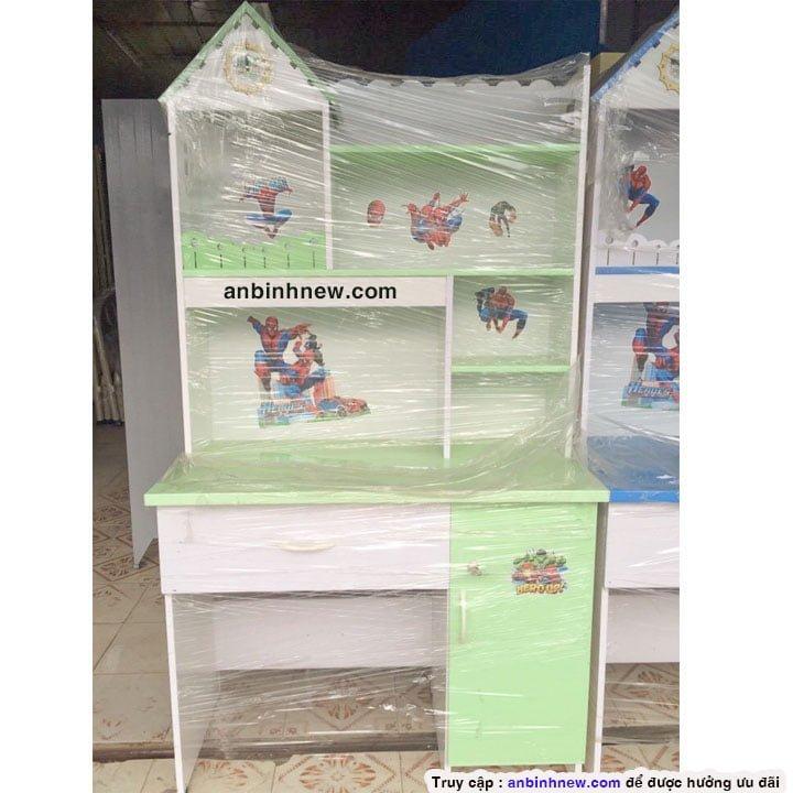 Bàn học sinh 1m liền kệ sách nhựa Đài Loan 1