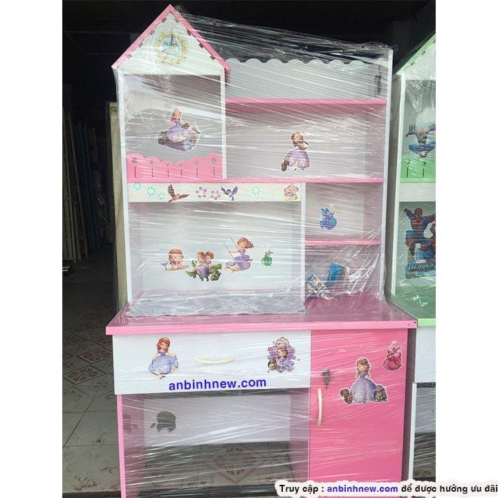 Bàn học sinh 1m nhựa Đài Loan giá rẻ màu hồng 1