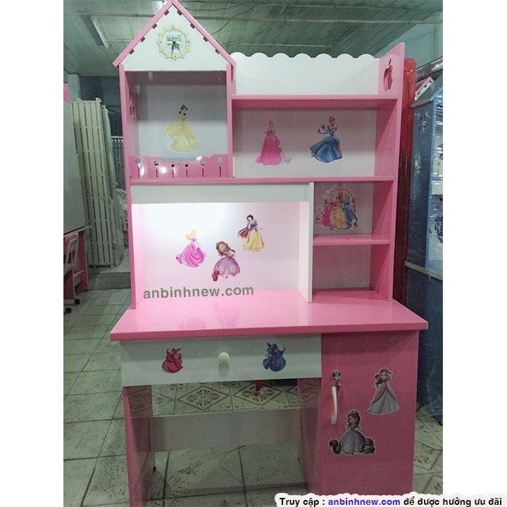 Bàn học sinh 1m nhựa Đài Loan giá rẻ màu hồng 2