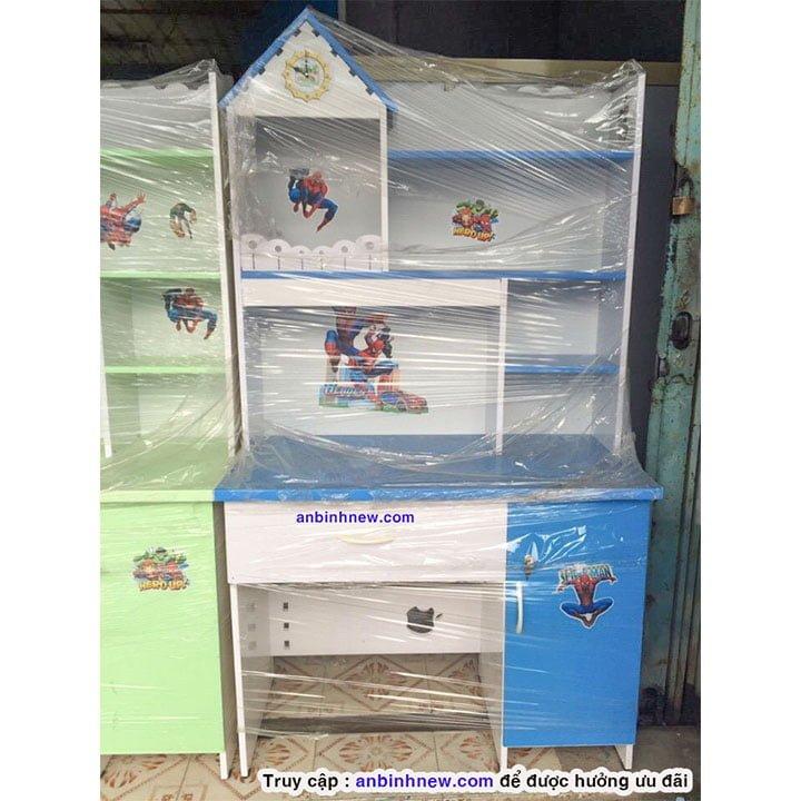 Bàn học sinh Đài Loan có kệ sách màu xanh dương