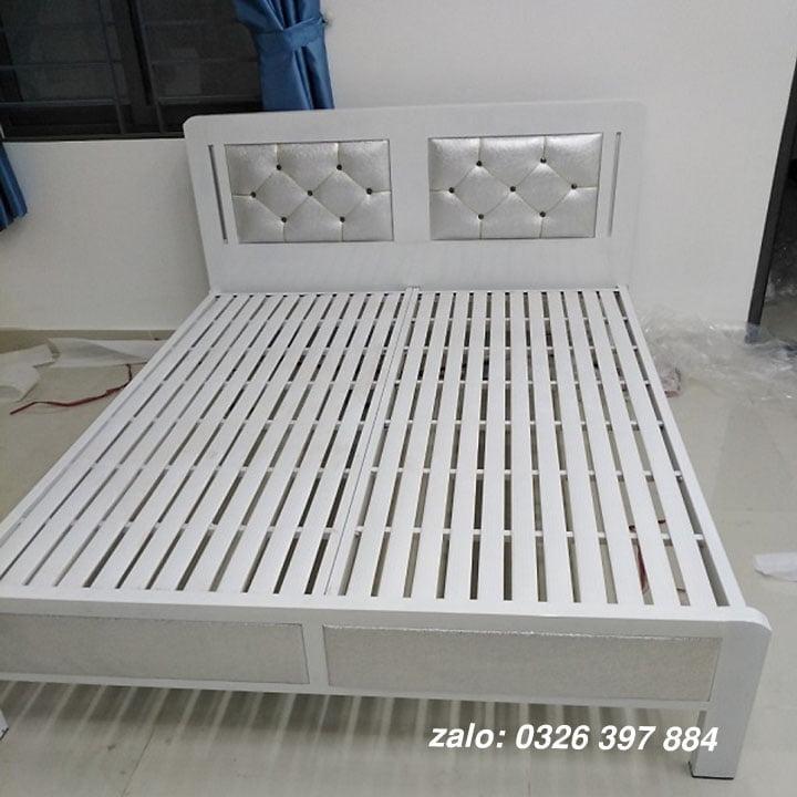 Giường sắt đơn 1m2 mẫu ngang - AB03