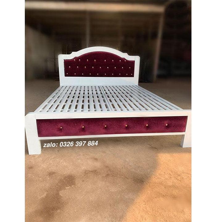 Giường sắt đơn Hoàng Gia - mẫu cong HG01 1