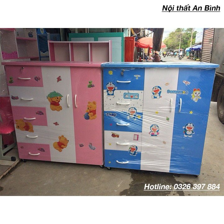 Tủ nhựa đựng quần áo mẫu màu hồng 2