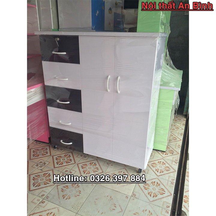 Tủ quần áo băng nhựa Đài Loan cao cấp 1m06 x 1m25