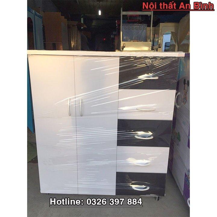 Tủ quần áo băng nhựa Đài Loan cao cấp 1m06 x 1m25 2