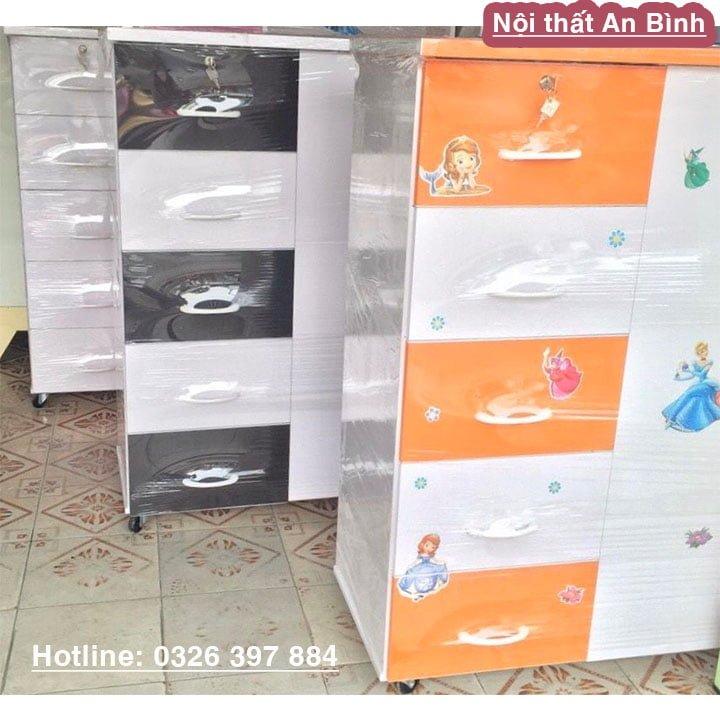 Tủ quần áo bằng nhựa Đài Loan cao cấp màu cam 1