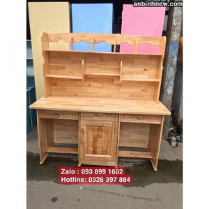 bàn học đôi bằng gỗ tự nhiên