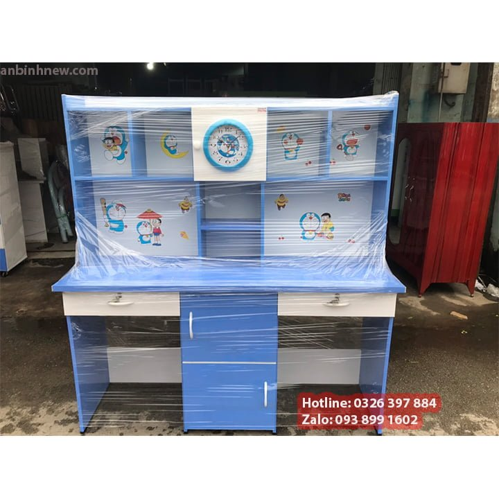 Combo Bộ Bàn Học Đôi Bằng Nhựa Có Kệ Sách Cho Bé Trai, Bé Gái 1