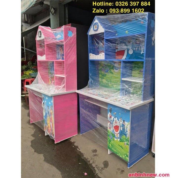 Bàn học sinh Đài Loan có kệ sách màu xanh dương 5