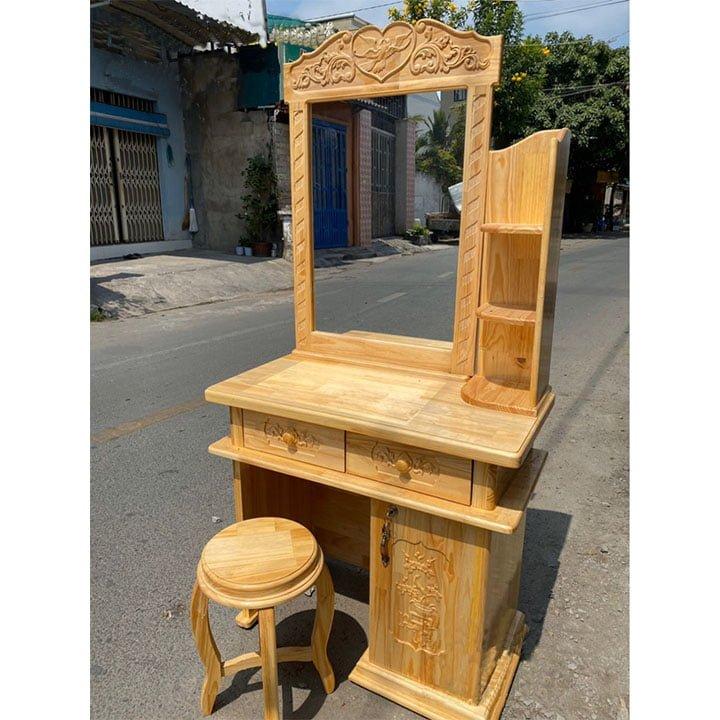 Bàn trang điểm đẹp giá rẻ làm bằng gỗ- AB01 3
