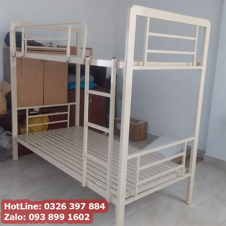 Giường sắt 2 tầng cao cấp cho phòng trọ, homestay giá rẻ 7