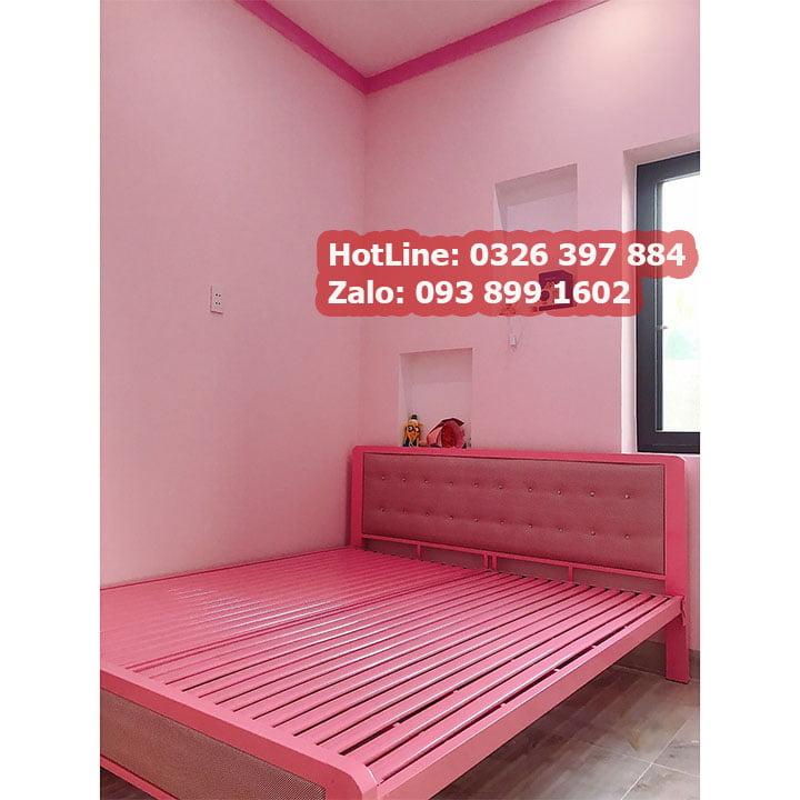 Giường sắt hộp cao cấp đơn giản 2