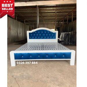 giường sắt 1m4 dành cho 2 người nằm
