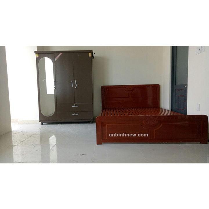 Giường sắt kiểu gỗ 1m6 x 2m An Bình 2
