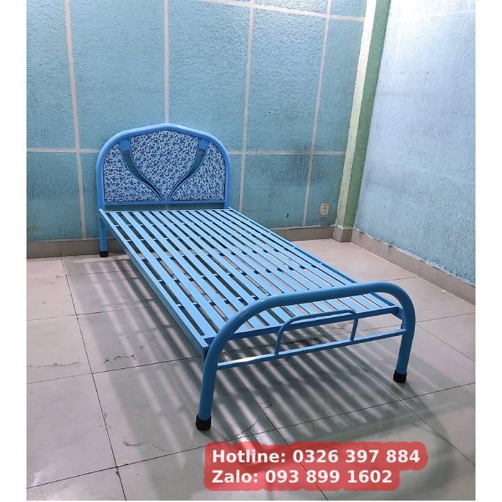 Giường sắt giá rẻ 8 tấc, 80cm, 1m, 1m2, 1m4, 1m6 1m8 x dài 2m 5