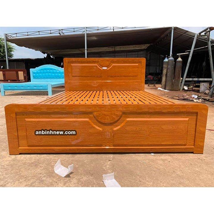 Giường sắt kiểu gỗ 1m6 x 2m An Bình 1