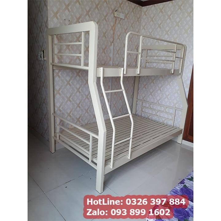 Giường tầng sắt hộp vuông 3x6 cao cấp 1m, 1m2, 1m4, 1m6, 1m8 - kiểu sọc đan 2