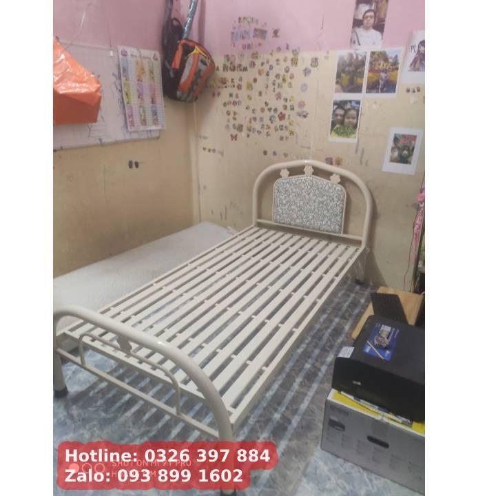 Giường sắt giá rẻ Duy Phương - ngang 1mx2m 2