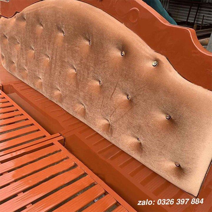 Giường sắt đơn Hoàng Gia màu nâu đậm - HG04 1