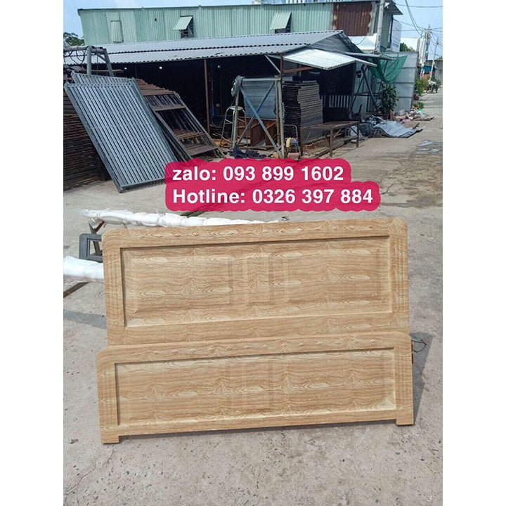 Giường sắt 1m4 x 2m kiểu gỗ 1