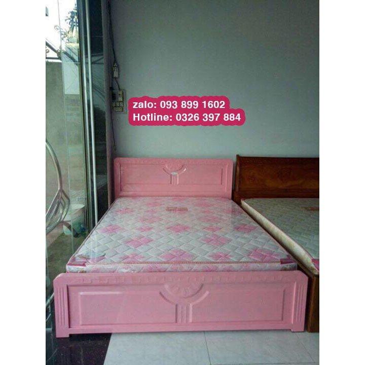 Giường sắt kiểu gỗ 1m6 x 2m An Bình 7