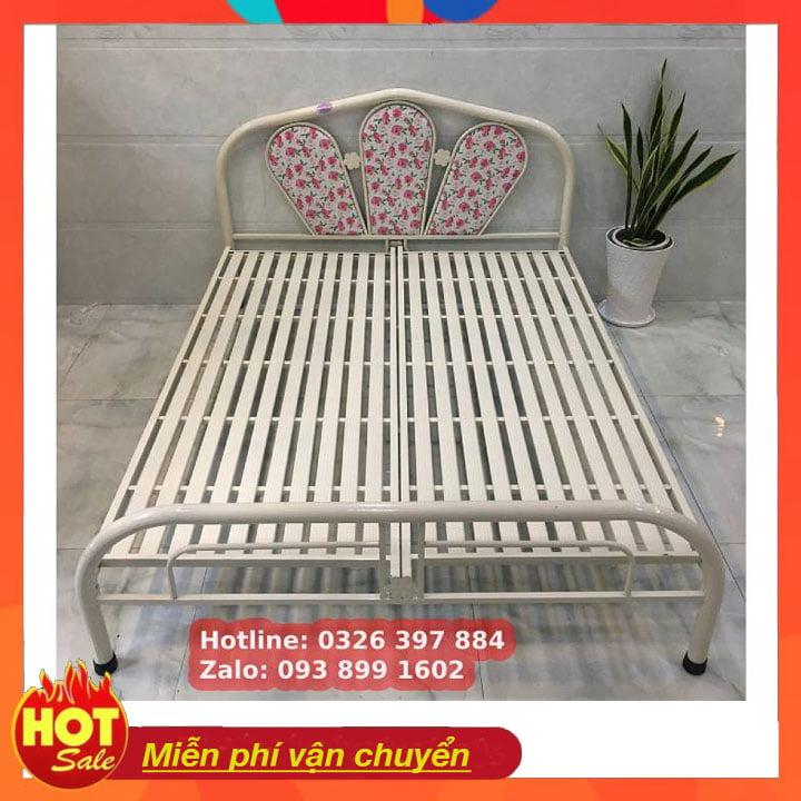 Giường sắt giá rẻ ngang 1m 1m2 1m4 1m6 x 2m