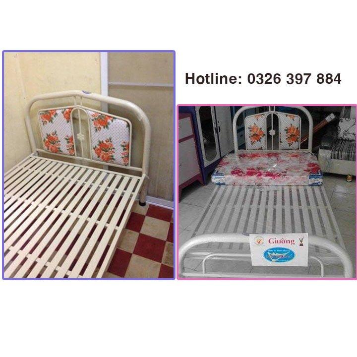 Giường sắt giá rẻ Duy Phương - ngang 1mx2m 3