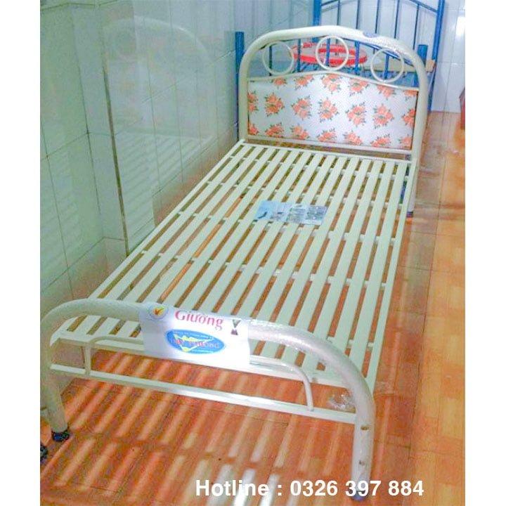 Giường sắt giá rẻ ngang 1m 1m2 1m4 1m6 x 2m 1