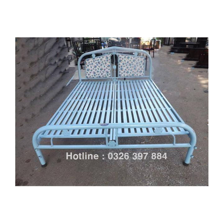Giường sắt giá rẻ 8 tấc, 80cm, 1m, 1m2, 1m4, 1m6 1m8 x dài 2m 1