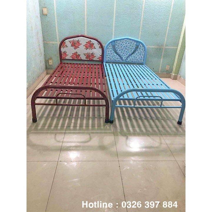 Giường sắt đơn An Bình giá rẻ 0m8x2m 7