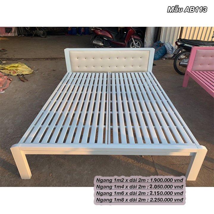 Giường ngủ sắt giá rẻ 1m2, 1m4, 1m6, 1m8 x dài 2m 8