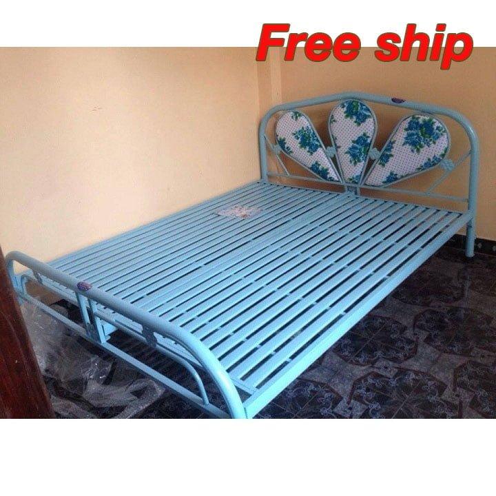Giường ngủ bằng sắt AB139 - ngang 1m8 x 2m