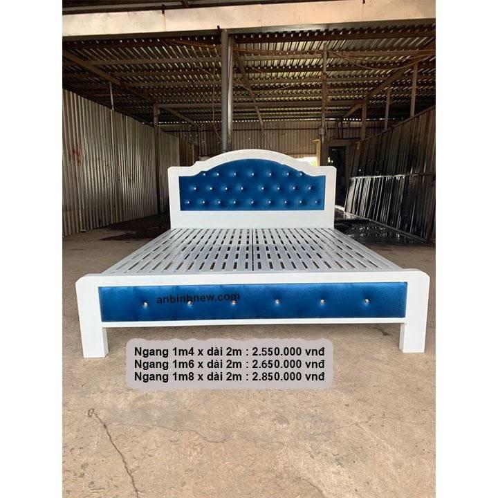 Giường ngủ sắt giá rẻ 1m2, 1m4, 1m6, 1m8 x dài 2m 1
