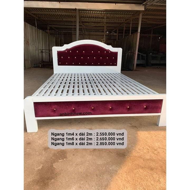 Giường ngủ sắt giá rẻ 1m2, 1m4, 1m6, 1m8 x dài 2m 3