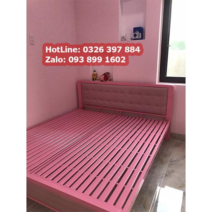 Giường sắt hộp cao cấp đơn giản 5