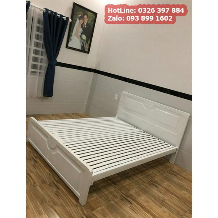 Giường sắt 1m2 x 2m kiểu gỗ 5