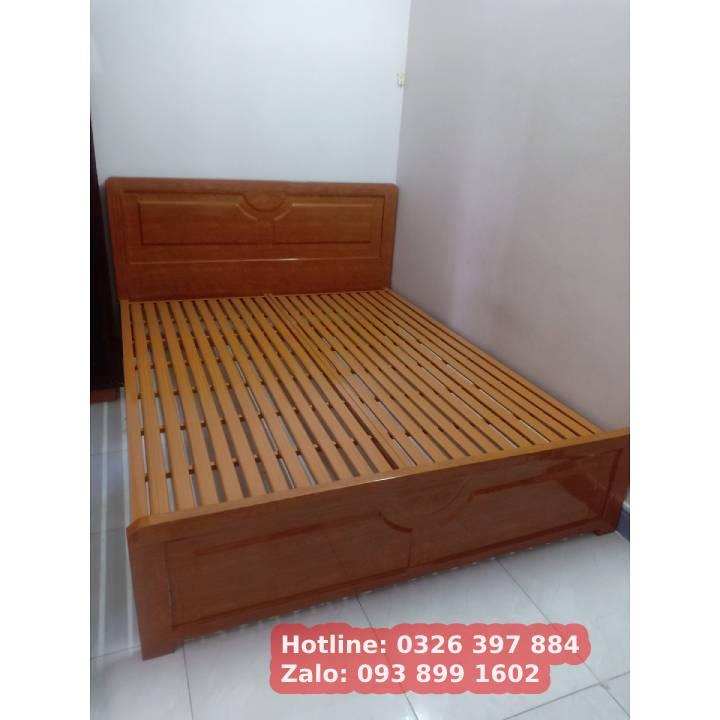 Giường sắt kiểu gỗ 1m6 x 2m An Bình 5