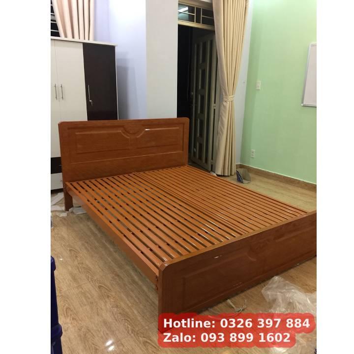 Giường sắt kiểu gỗ 1m6 x 2m An Bình 6