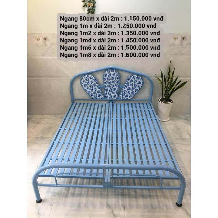 Tất Tần Tật về : giường sắt 1m6 giá rẻ 12