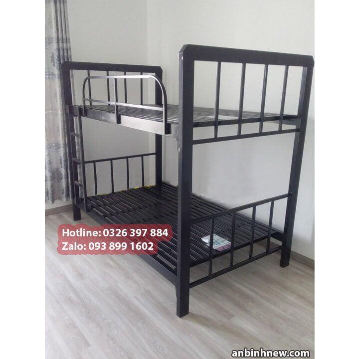 Giường ngủ 2 tầng bằng sắt hộp 4x8 giá rẻ An Bình New 2
