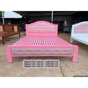 giường sắt hộp 1m6