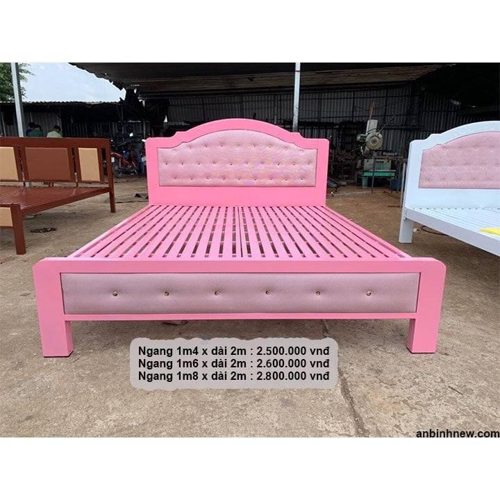 Giường ngủ sắt giá rẻ 1m2, 1m4, 1m6, 1m8 x dài 2m 2