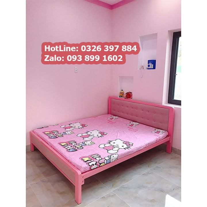 Giường sắt hộp cao cấp đơn giản 1
