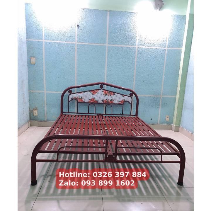 Giường sắt giá rẻ ngang 1m 1m2 1m4 1m6 x 2m 5
