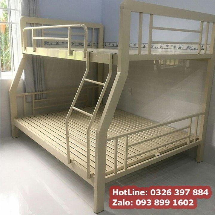 Giường sắt 2 tầng cao cấp kích thước đa dạng màu kem đẹp nhất 3