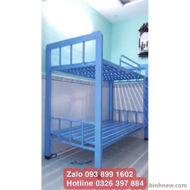 Giường tầng sắt đặc biệt màu xanh dương hàng đặt 1