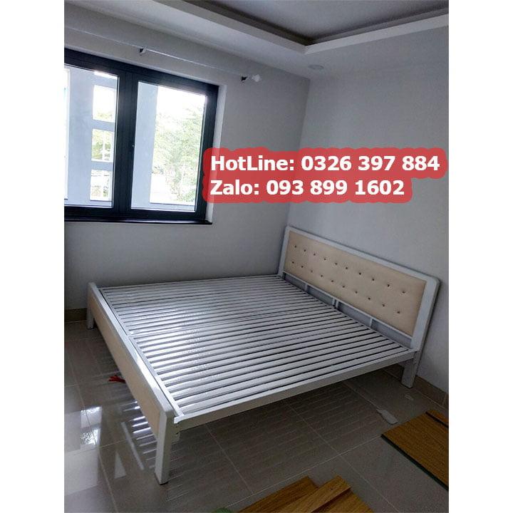 Giường sắt hộp cao cấp đơn giản 7