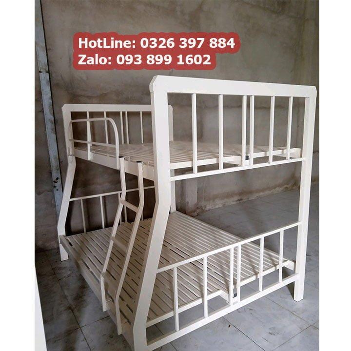 Giường sắt 2 tầng giá rẻ sắt hộp 4x8 đủ kích thước An Bình New 2