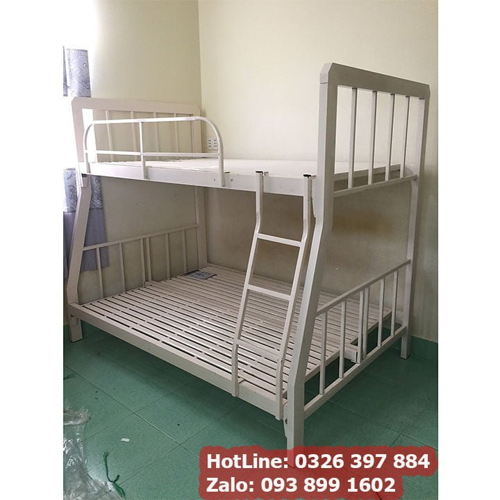 Giường sắt 2 tầng giá rẻ sắt hộp 4x8 đủ kích thước An Bình New