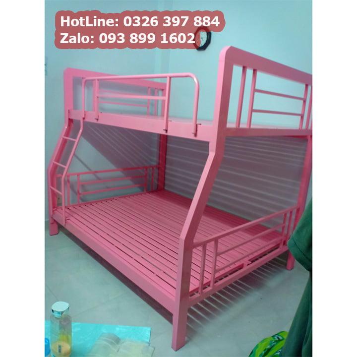 Giường sắt 2 tầng cao cấp kích thước đa dạng màu kem đẹp nhất 4